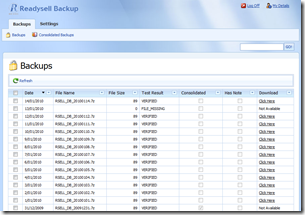 ReadysellBackup Screenshot
