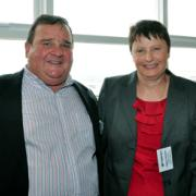 Barry Patterson and wife Debbie of The Paper Bahn Office National