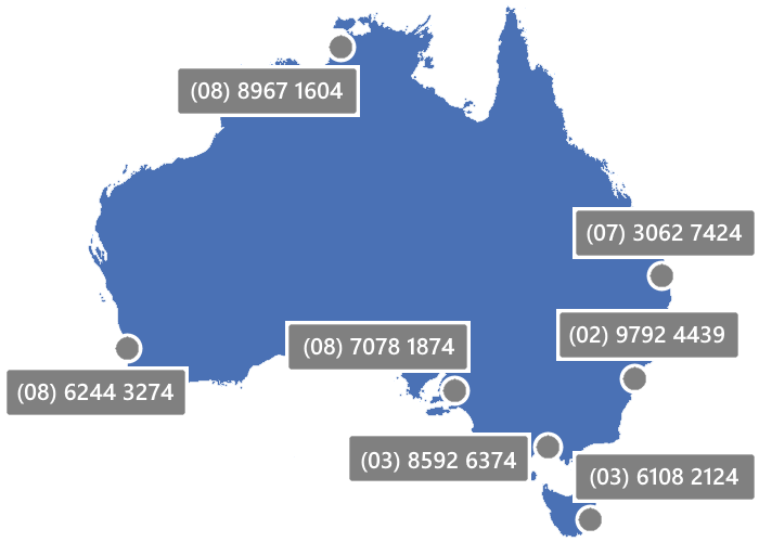 Map showing Readysell phone numbers.
