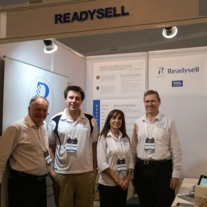 Staff at Readysell stand at Office Brands Expo 2014