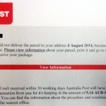 Fake Australia Post Email