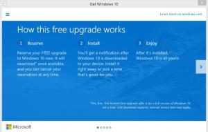 Windows 10 upgrade wizard